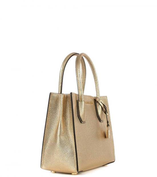 Michael Kors Pale Gold Mercer Small Satchel