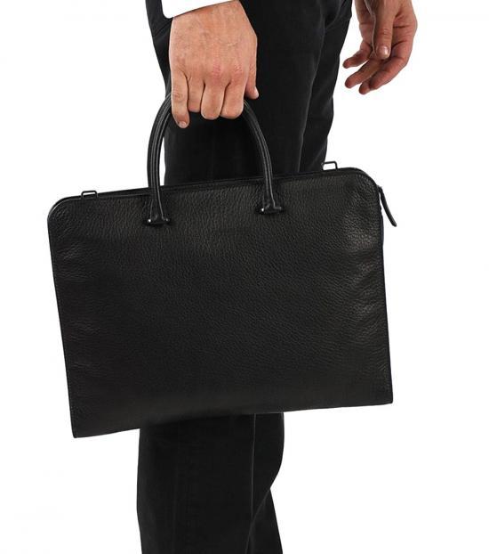Prada Black Logo Large Briefcase Bag