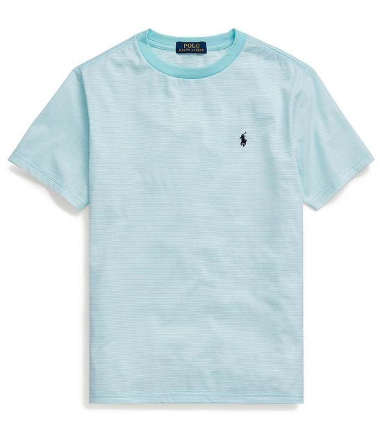 Ralph Lauren Boys Island Aqua Striped T-Shirt