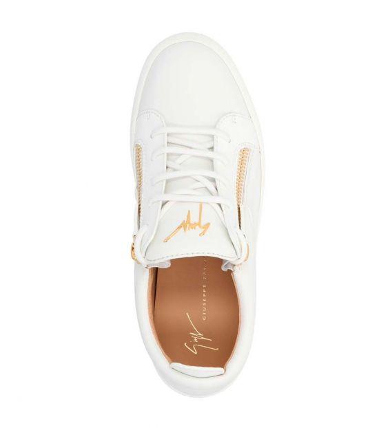 Giuseppe Zanotti White Gold May London Sneakers