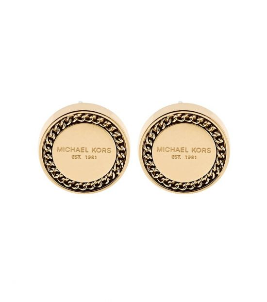 Michael Kors Gold Signature Stud Earrings