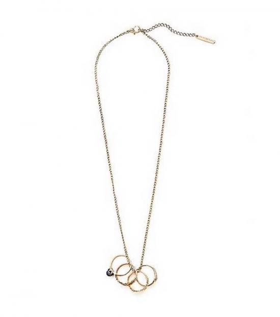 Armani Exchange Gold Multi Ring Fashionable Necklace