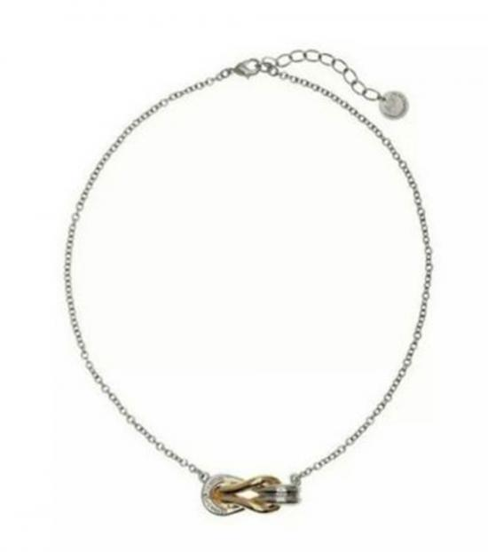 Armani Exchange Silver Knot Dazzling Necklace