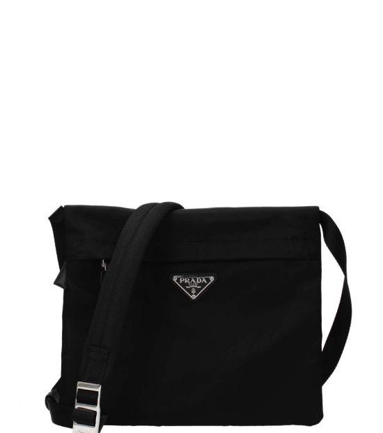 Prada Black Logo Medium Crossbody