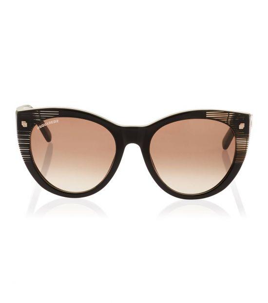 Dsquared2 Black-Brown Rectangular Sunglasses