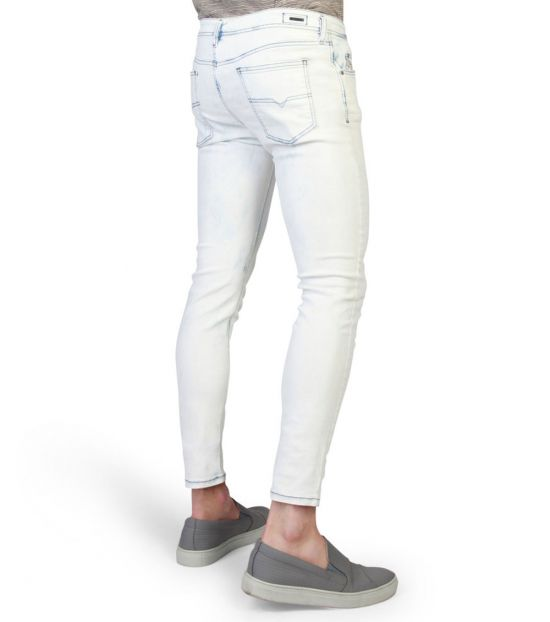 Diesel White Stickker Skinny Light Jeans