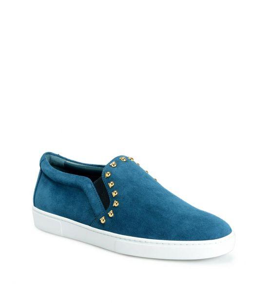 Salvatore Ferragamo Sea Green Spargi Studded Loafers