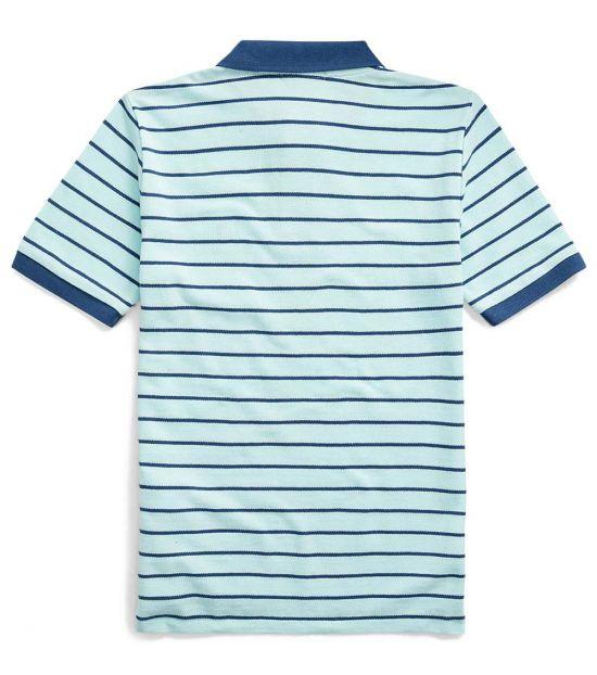 Ralph Lauren Boys Island Aqua Striped Polo