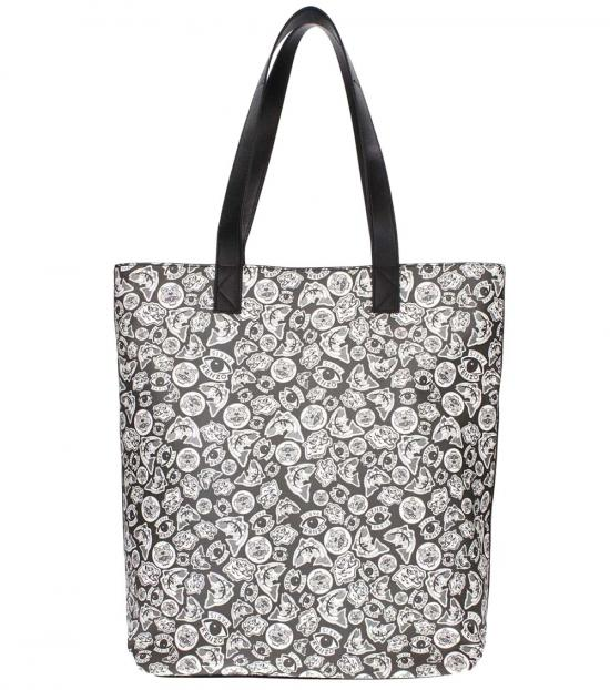 Kenzo Black & White Graphic Large Tote