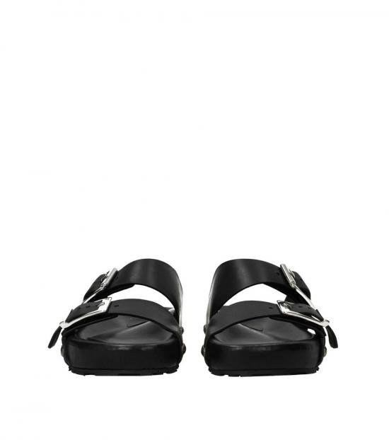Alexander McQueen Black Side Logo Slides