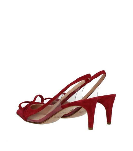 Red Valentino Red Slingback Suede Heels