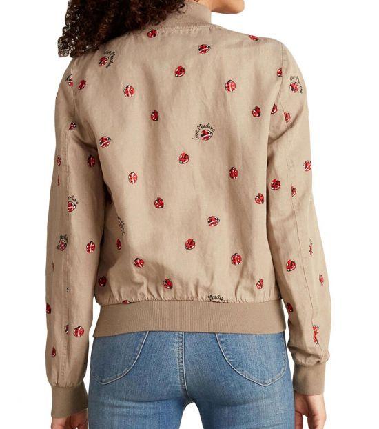 Love Moschino Khaki Ladybug Full-Zip Jacket