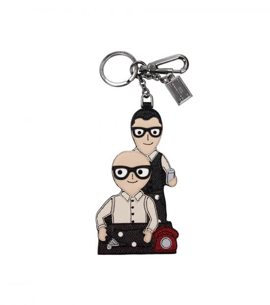 Dolce & Gabbana Multicolor Family Key Holder