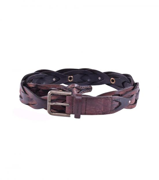 Dolce & Gabbana Brown Braided Belt