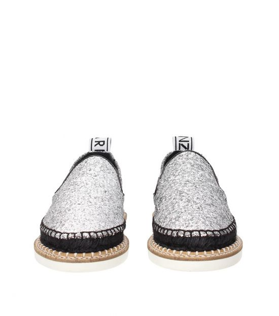 Kenzo Silver Glitter Espadrilles