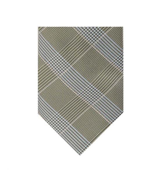 Michael Kors Green Glen Check Pattern Tie