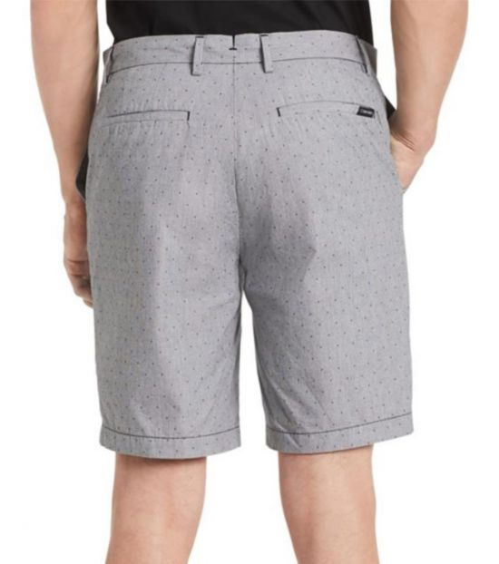 Calvin Klein Grey Classic-Fit Flat-Front Shorts