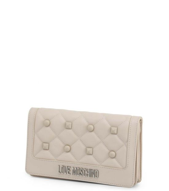 Love Moschino White Studded Small Crossbody