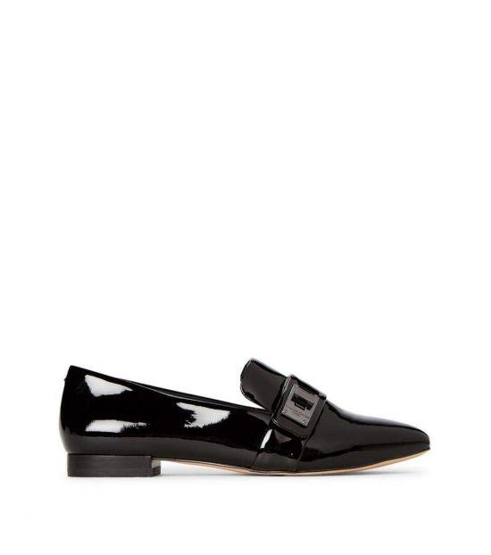 Karl Lagerfeld Black Nelia Patent Leather Loafers