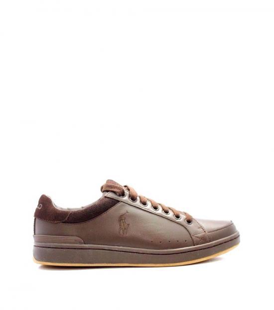 Ralph Lauren Brown Talbert Leather Sneakers