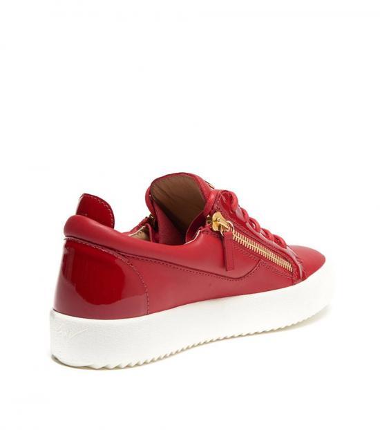 Giuseppe Zanotti Red Zipped Low Sneakers
