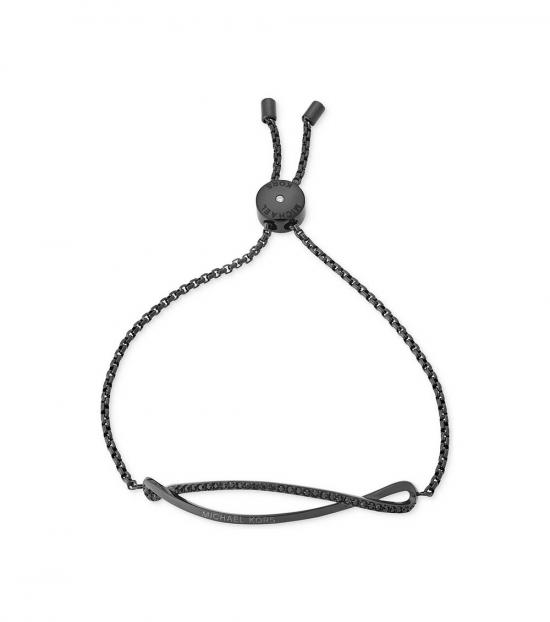 Michael Kors Black Jet Pave Wavy Slider Bracelet