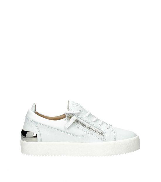 Giuseppe Zanotti White Leather Sneakers