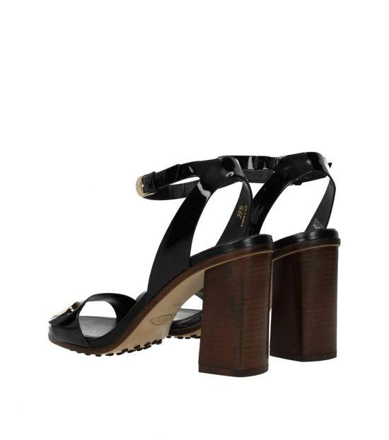 Tod's Black Side Logo Heels
