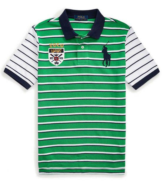 Ralph Lauren Boys Golf Green Big Pony Crest Polo