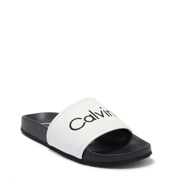 Calvin Klein White Pepito Slides