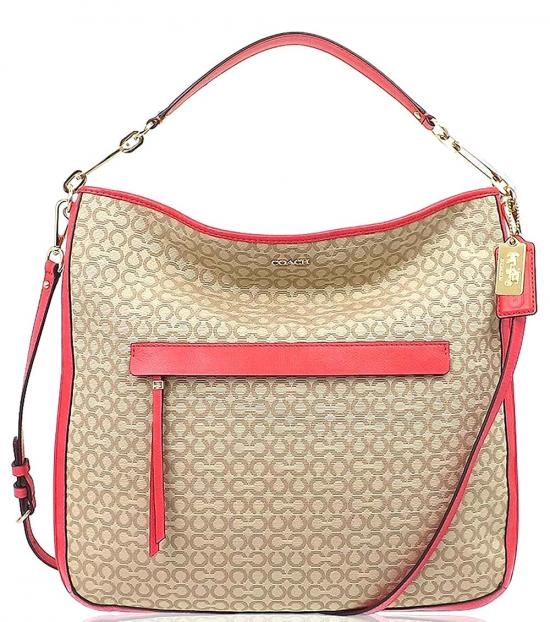 Coach Khaki Madison Large Hobo