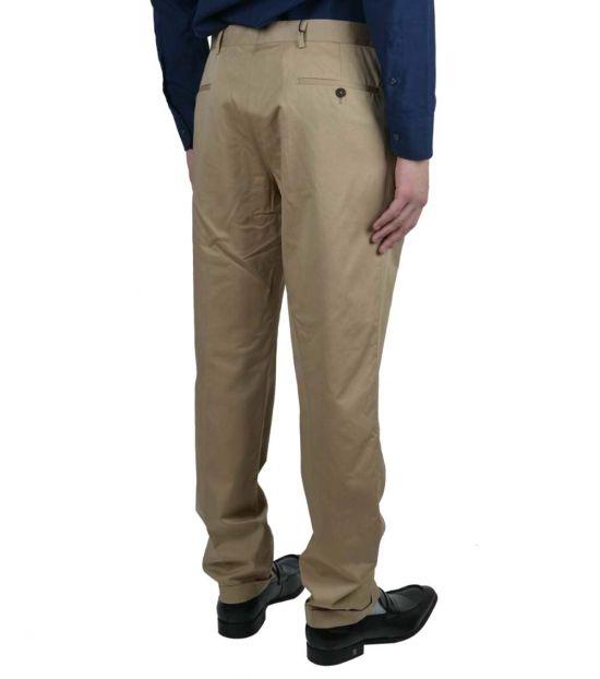 Prada Beige Solid Casual Pants