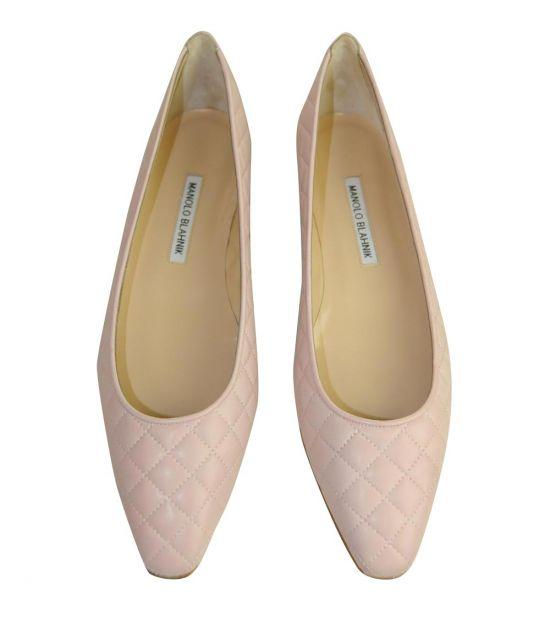 Manolo blahnik Pale Pink Giungla Ballet Flats