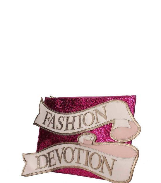 Dolce & Gabbana Fuchsia Cleo Large Crossbody