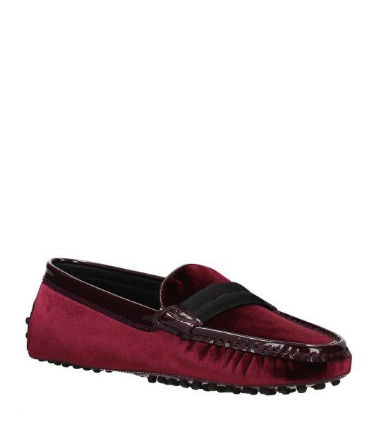 Tod's Red Velvet Loafers