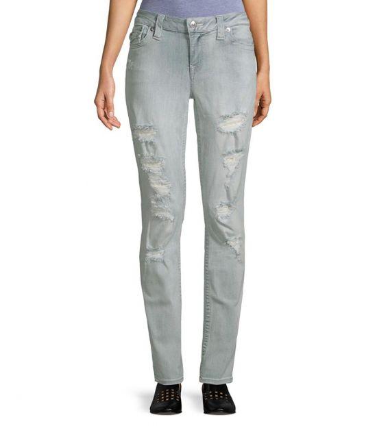 True Religion Light Blue Skinny Distressed Jeans