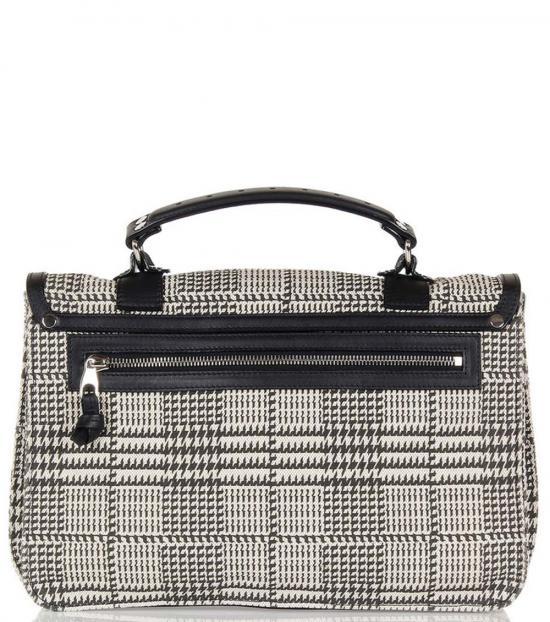 Proenza Schouler Black/White Patterned Medium Messenger Bag