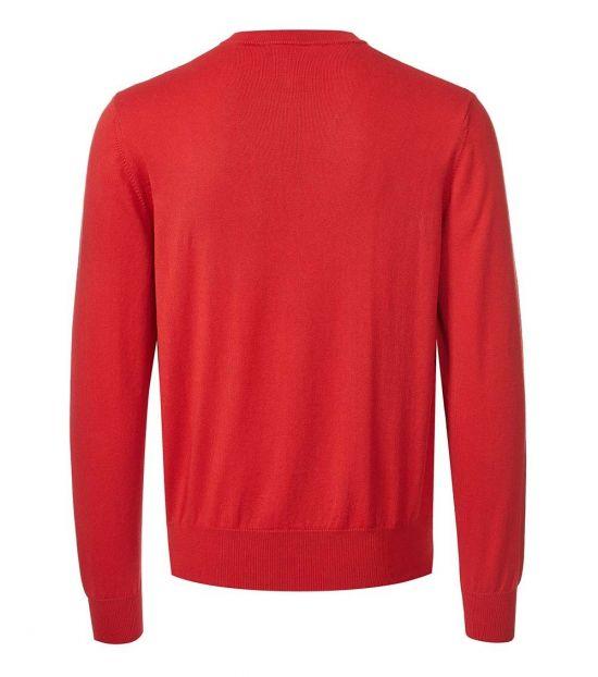 Love Moschino Red Allover Logo Sweater