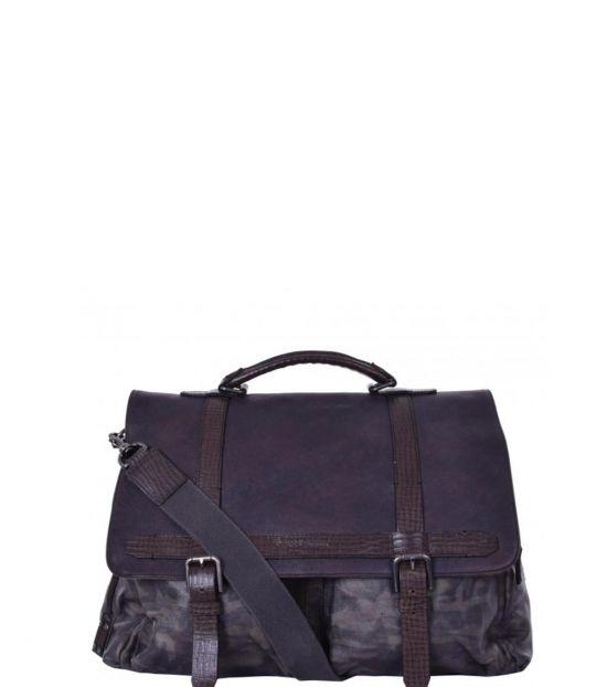 Dolce & Gabbana Brown Camouflage Large Messenger Bag