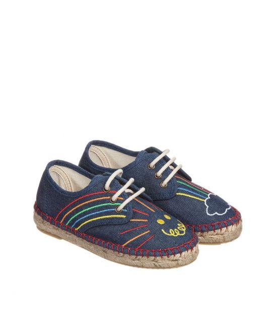 Stella McCartney Blue Espadrille Sneakers