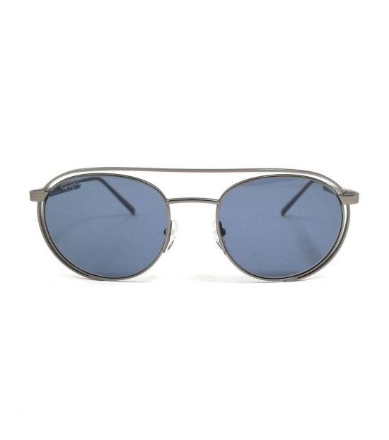 Salvatore Ferragamo Matte Metal Oval Sunglasses