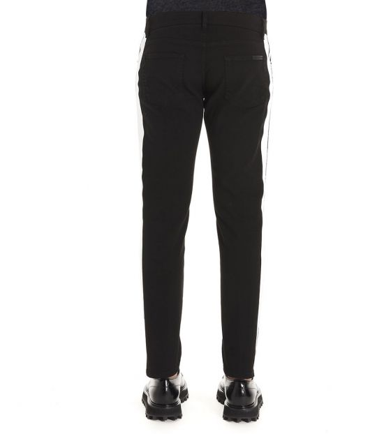 Dolce & Gabbana Black Side Band Trousers
