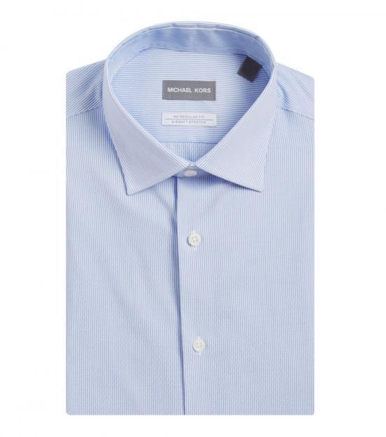 Michael Kors French Blue Stripe Dress Shirt