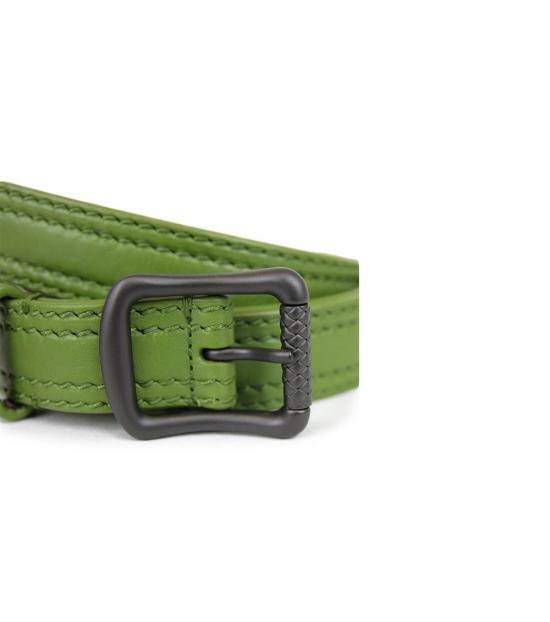 Bottega Veneta Green Leather Belt