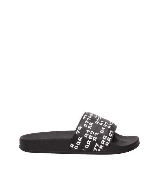 Marcelo Burlon Black Lea Slides