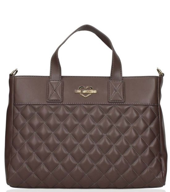 Love Moschino Taupe Quilted Large Tote