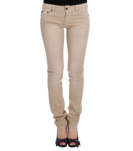 Just Cavalli Beige Wash Slim Fit Stretch Jeans