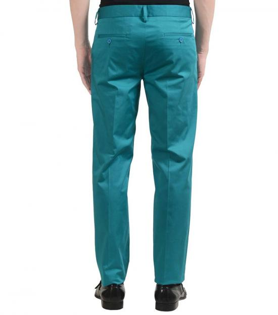 Versace Jeans Green Flat Front Dress Pants