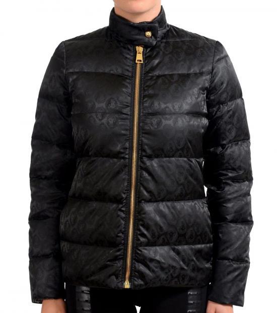 Versus Versace Black Goose Down Parka Jacket