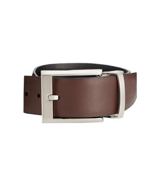 Calvin Klein Black Brown Reversible Dress Belt